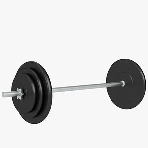 3d plates bar weight set model
