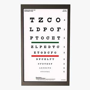 Eye Exam Chart 3D model