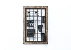 3D model Wall Mounted Device Organiser Decor