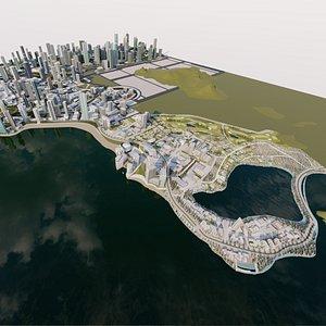 city structure architecture 3D model