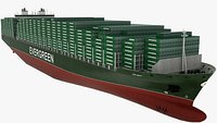 Container Ship Evergreen Ever Liberty