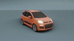 fiat panda 2012 3D