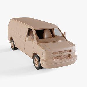 3D chevrolet express van