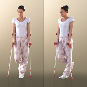 10894 Diana - Woman With Crutches model