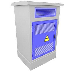 3D Concrete Electrical Cabinet 3D Model 29