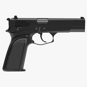FN HP-DA Pistol 3D model