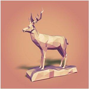 cartoon toon deer 3D