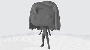 3D FunkoPopDIYGirlCustom3DPrintModel