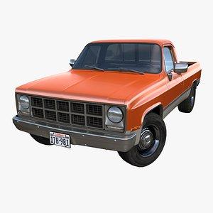 3D model pickup pbr