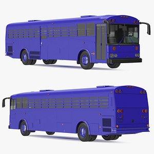 Prison Transport Bus 3D