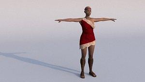 laomusic african female model