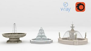 3D model 3 Fountains Corona2012