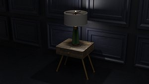 3D Modern Lamp and Desk