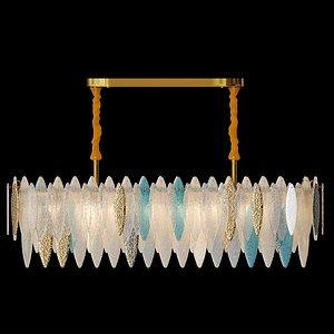 3D chandelier glass petals