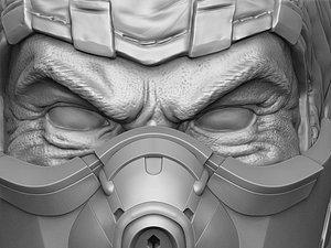 Subzero.MKX.Bust.3D printable.STL. 3D model