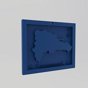 Dominican Republic Print 3D model