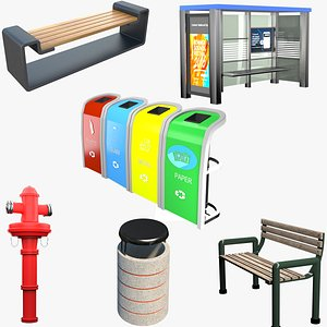 Street Furniture Collection model