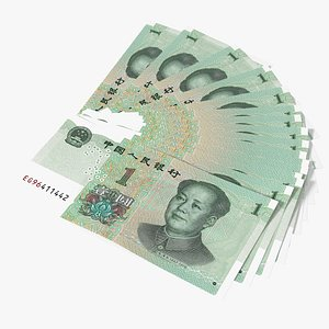 Fan of Chinese 1 Yuan 2019 Banknotes 3D model