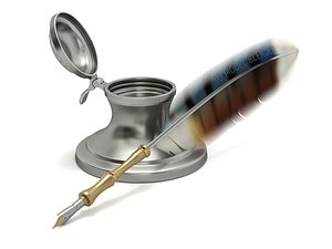 inkwell ink pen 3D
