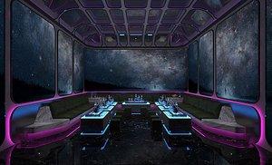 3D KTV bar box room big box entertainment club volume sales type science fiction technology sense model