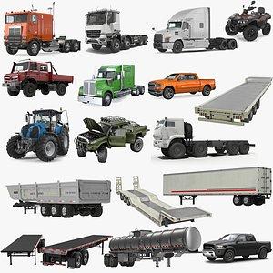 trailer vehicle 3D