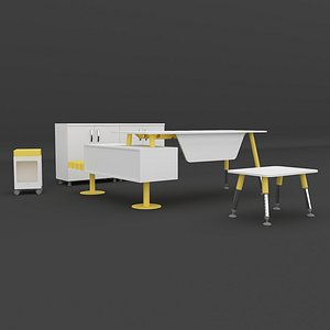 MYNE Staff Table Set 3D model