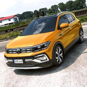 3D model 2021 Volkswagen T-Cross