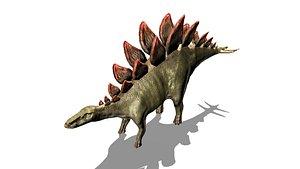 3D stegosaur t model