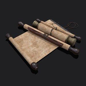 Medieval Elegant Scrolls 3D model