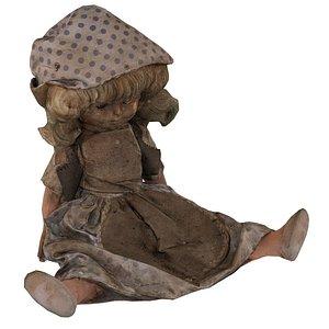3D model Small Doll USSR 02 01