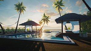Exterior Beach Resort 3D model