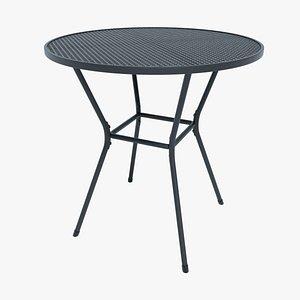 garden table metal model