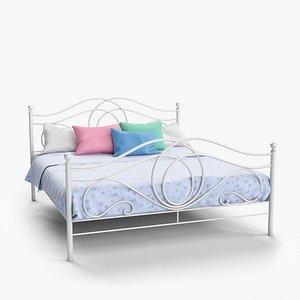 3D model bed bedroom interiors