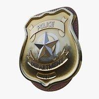 Police Badge Photorealistic PBR
