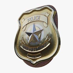 3D model police badge photorealistic pbr