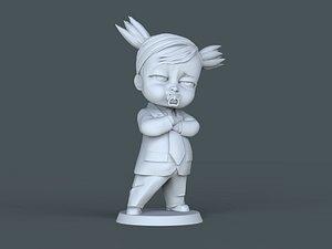 boss baby cartoon printing 3D