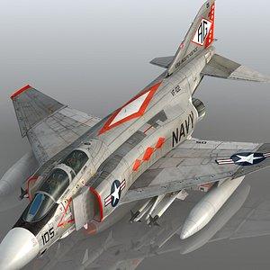 3D F4 J Navy Phantom II VF-102 Diamondbacks USS Independence