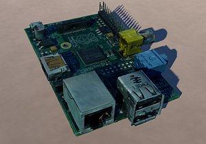 3D Computer motherboard model
