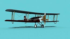 Airco DH-4 Continental Aerial Photo 3D