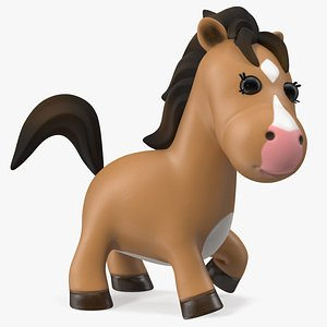 Brown Cartoon Horse Rigged for Modo 3D model