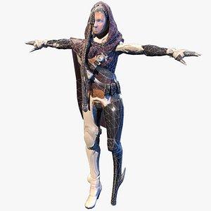 3D model female pirate onelegged