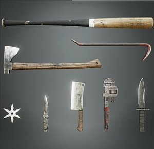 3D Melee Weapons Pack model