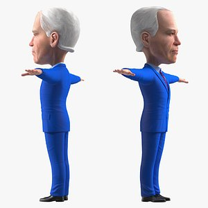 Cartoon Joe Biden Rigged for Modo model