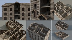 wooden house constructor 3D model
