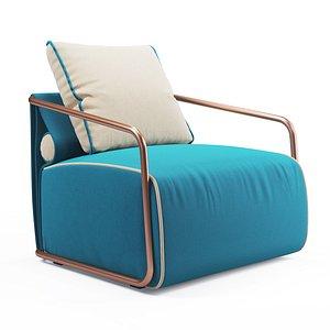 3D lounge armchair model