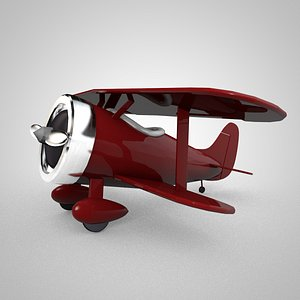 plane biplane tiny 3D model