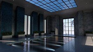 3D model resort pool