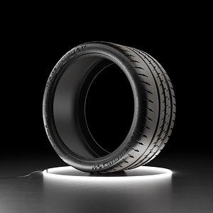 Car tire Michelin Pilot Sport Cup 2 3D model