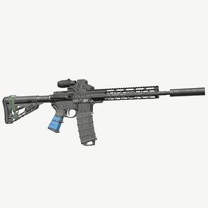 3D ready ar-15 rifle