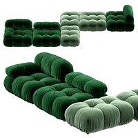 B and B Camaleonda Velvet sofa by Mario Bellini